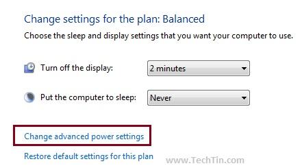 advanced power settings in windows 7