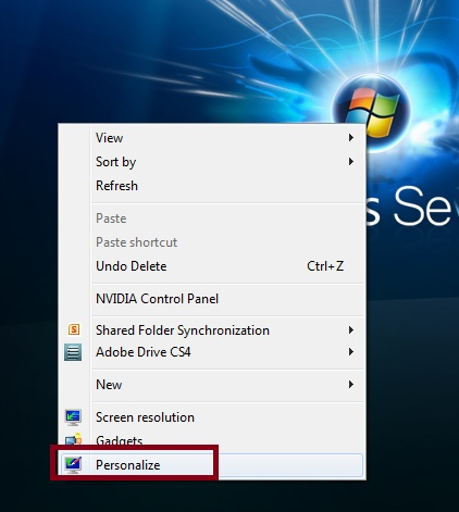 personalize-in-windows-7