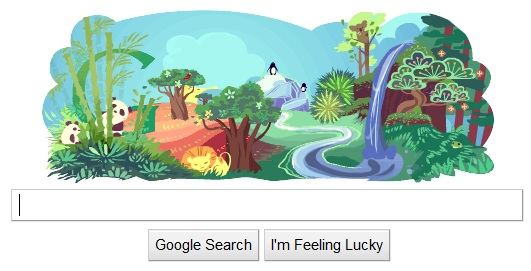 earth day 2011 google image. Today is Earth Day and Google