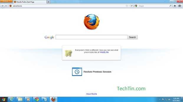 Firefox on windows 8