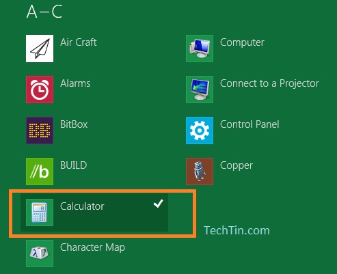 Apps in windows 8