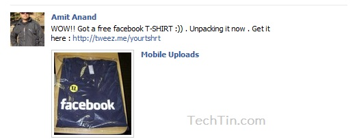 Facebook Free T-shirt  Scam